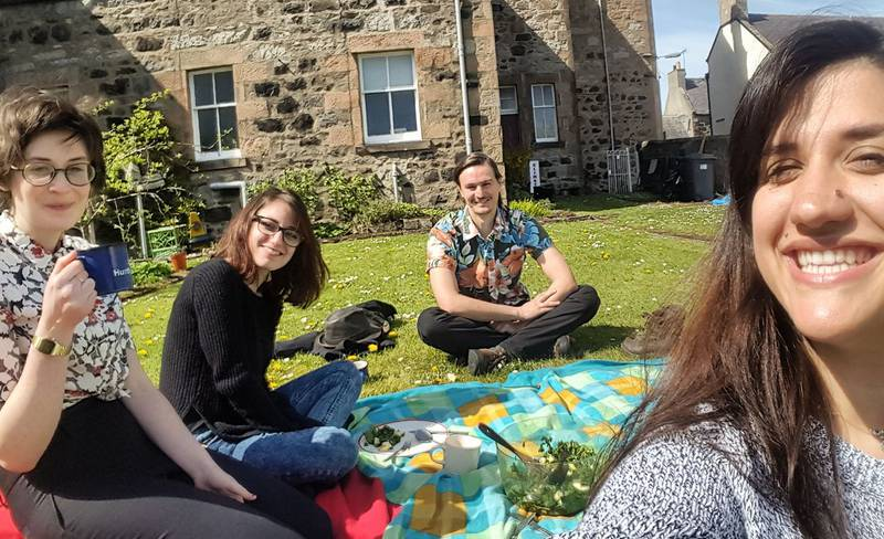 Deveron Projects - Team on the grass