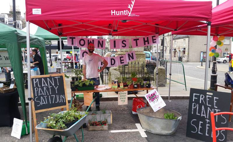 Town is the Garden — Farmers' Market stall in June