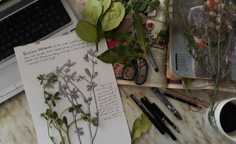 Walking Without Walls - May's studio desk